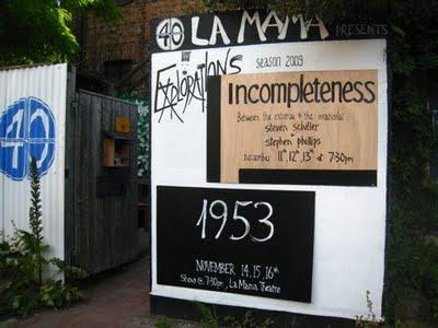 Incompleteness- lamama 2009