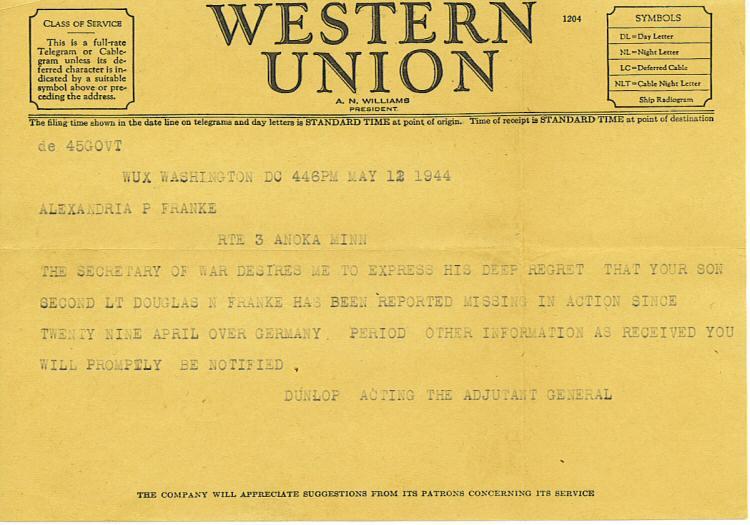 Vintage telegrams.